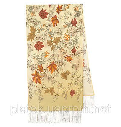 Чарівна алея 1051-52, павлопосадский шовковий шарф крепдешиновый з шовковою бахромою