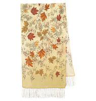 Волшебная аллея 1051-52, павлопосадский шарф шелковый крепдешиновый с шелковой бахромой