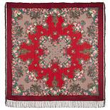 Спящая красавица 1548-5, павлопосадский платок шерстяной (с просновками) с шелковой бахромой, фото 3