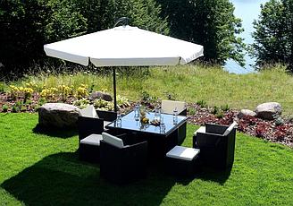Садовый зонт складной(белый)