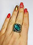 Перстень в сріблі з великим блакитним фианитом Форос, фото 5