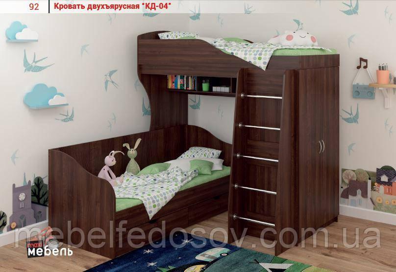 Кровать двухъярусная КД-04 (Макси мебель) 1930х835х1900мм