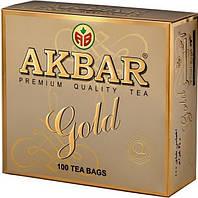Чай Акбар Gold 100 пакетов