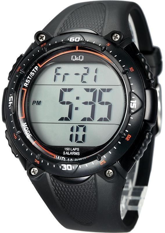 Q&Q M010 черные мужские спортивные часы