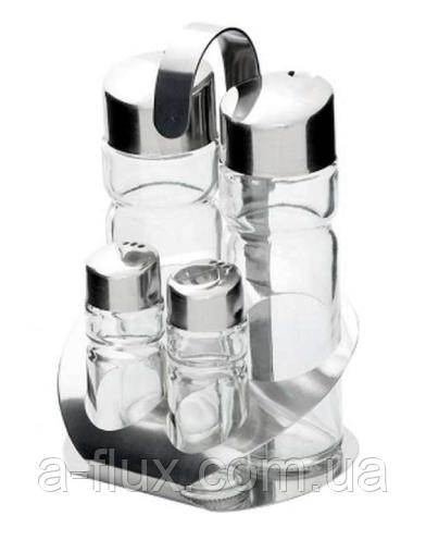 Набор для специй (4 предмета: соль, перец, масло и уксус) Stalgast 362004