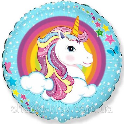 Фольгированный шарик Unicorn, фото 2