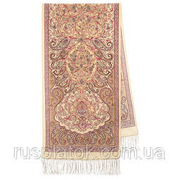 Розповідь про мандри 1633-50, павлопосадский шовковий шарф крепдешиновый з шовковою бахромою