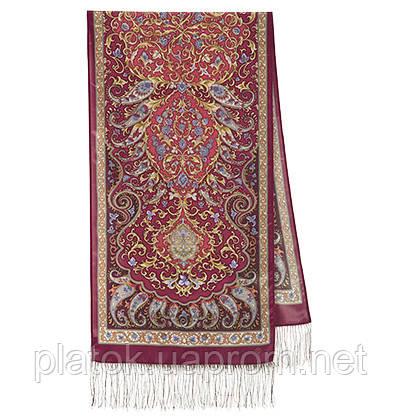Рассказ о странствиях 1633-56, павлопосадский шарф шелковый крепдешиновый с шелковой бахромой