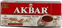 Чай Akbar Black Tea 25 пакетов