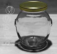 Банка стеклянная с металлической крышкой для консервации Everglass 395мл (1391)