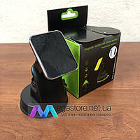 Автомобильный магнитный держатель для телефона, холдер для смартфона в машину на панель и лобовое стекло