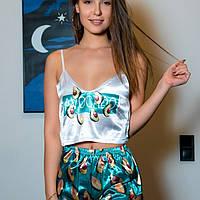 Женские Шелковые пижамы. Комплект, фото 1
