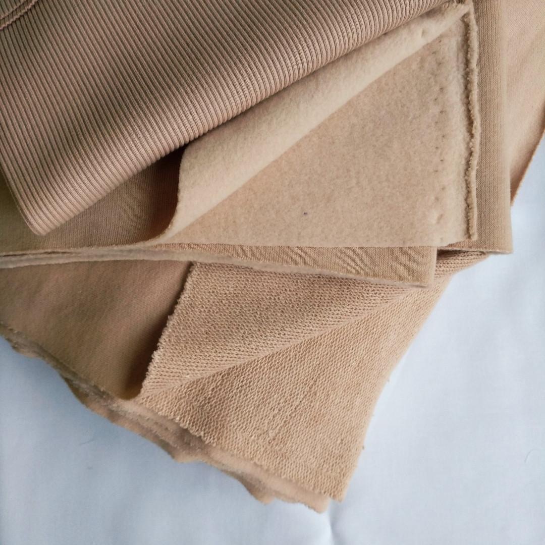 трикотажная ткань терехнитка с петля визон светлый, купить в нашем магазине