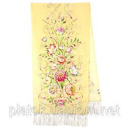 Полонез 1631-50, павлопосадский шовковий шарф крепдешиновый з шовковою бахромою