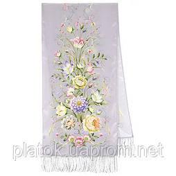 Полонез 1631-51, павлопосадский шовковий шарф крепдешиновый з шовковою бахромою