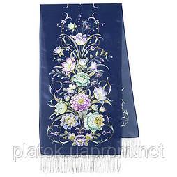 Полонез 1631-64, павлопосадский шовковий шарф крепдешиновый з шовковою бахромою