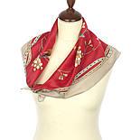 Звонкое утро 10040-6, павлопосадский шейный платок (крепдешин) шелковый с подрубкой, фото 3