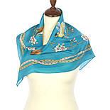 Звонкое утро 10040-12, павлопосадский шейный платок (крепдешин) шелковый с подрубкой, фото 2