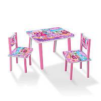 """Столик МИНИ """"Барби"""" С 088 (1) 60*46 см. /столик + 2 стула/"""