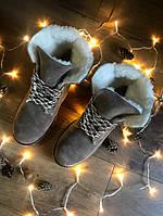 Крутые женские зимние ботинки тимберленды черные кожаные натуралки 36-41 размер, зимние ботинки Timberland