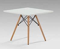 Стол журнальный Алор Small, дерево бук, квадратный, цвет белый