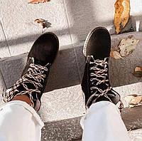 Крутые женские зимние ботинки тимберленды черные натуралки 36-41 размер, зимние ботинки Timberland