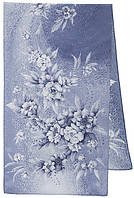 Лунная мелодия 1513-1, павлопосадский шарф шелковый крепдешиновый с подрубкой