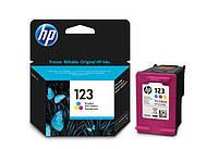 Картридж для HP DeskJet 2130 принтера (цветной) оригинальный, стандартной ёмкости.