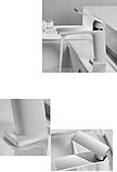 Смеситель для умывальника белый+хром  3-145, фото 3