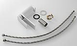 Змішувач для умивальника білий+хром 3-145, фото 4