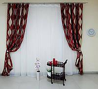 Пара готовых штор, ткань блэкаут код-213