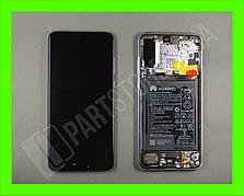Дисплей Huawei P20 Pro Purple (02351WTU) сервисный оригинал в сборе с рамкой, акб и датчиками