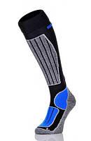 Шкарпетки лижні Spaio Merino Vigour 35-37 Чорний з блакитним