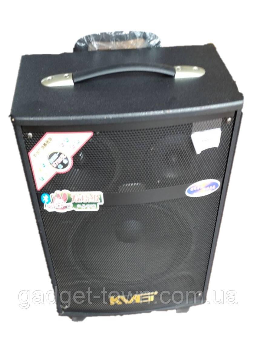 Портативна Акустика QX-1007 на акумуляторі з радіомікрофонами (150W/USB/Bluetooth)
