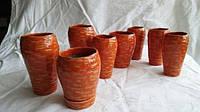 Цветочный горшок керамический, Вазон Морковь без растения