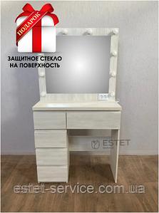 Визажный столик М615 в цвете Белое Дерево с направляющими (КЛИК)