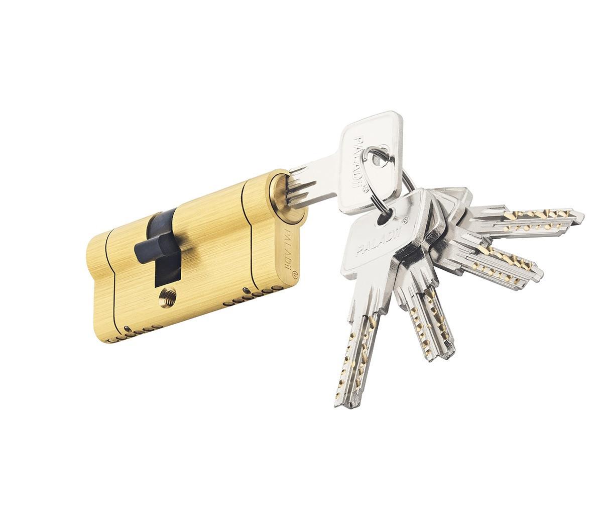 Цилиндровый механизм PALADII SP NEW 70мм (30*40) SВ желтый мат 5 ключей
