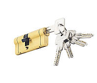 Циліндровий механізм PALADII SP NEW 70мм (30*40) ЅВ жовтий мат 5 ключів, фото 1