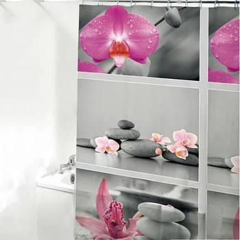 Шторка-занавеска для ванны/душа 180х180 PEVA (N14) HS14