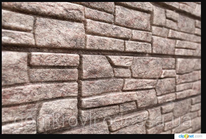Виниловый Сайдинг Stone House Стоун-Хаус Сланец Бурый
