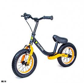 Детский велобег Scale Sports Star с ручным тормозом и регулировкой роста (Orange-black)