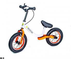 Детский велобег Scale Sports Star с ручным тормозом и регулировкой роста (White-orange)