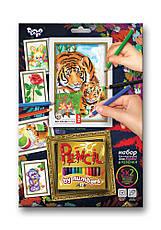 Набор для творчества Pencil by numbers Данко-тойс, фото 3