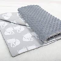 """Детский плед для новорожденных и детей до 5 лет, конверт - одеяло плед на выписку """"Лисята"""", 80*120см"""