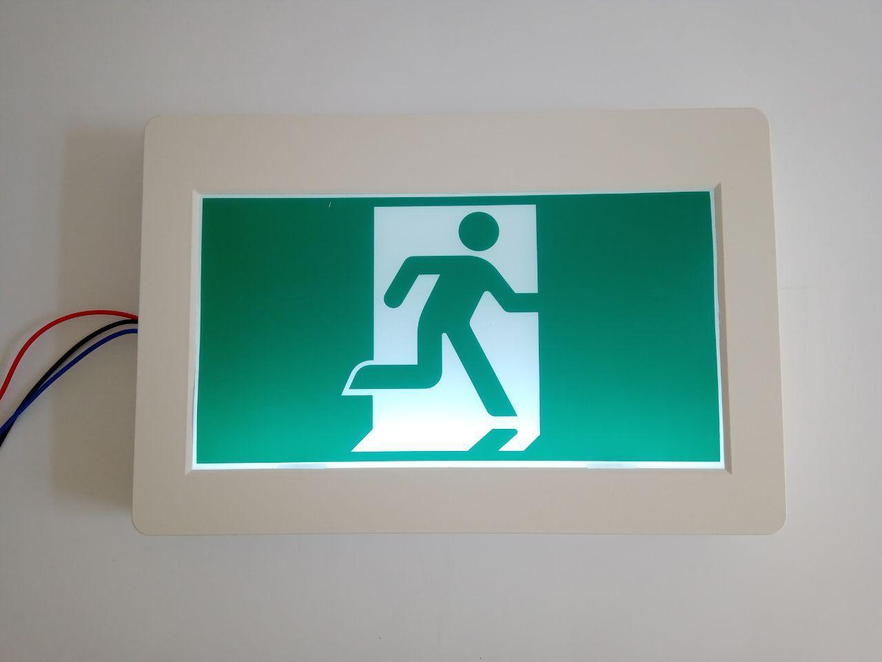 Настенный указатель эвакуационного выхода аккумуляторный для аварийного освещения 220В