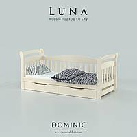 """Ліжко """"Домінік"""" із масиву натурального дерева 80*190, фото 1"""