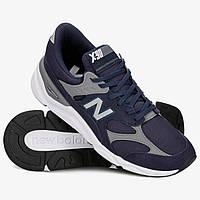 Фирменные синие мужские кроссовки New Balance X-90 msx90rcj