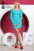 Кашемировое стильное женское Платье