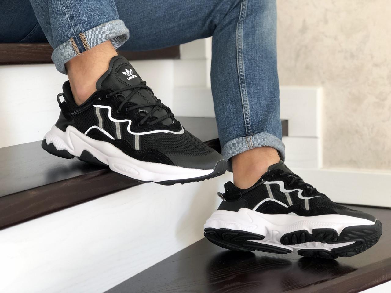 Чоловічі кросівки Adidas Ozweego TR (чорно-білі) - весна-осінь