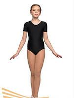 Детский купальник для танцев и гимнастики короткий рукав